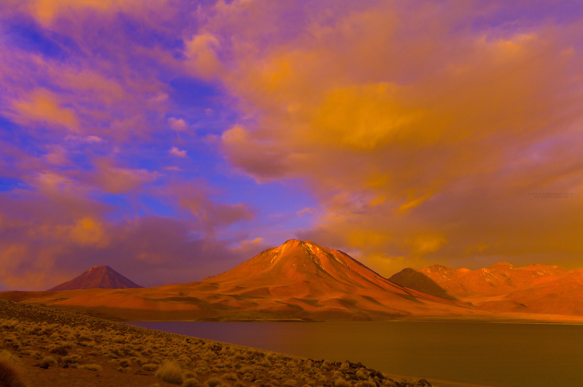 Sunset on Laguna Miscanti, Atacama Desert, Chile