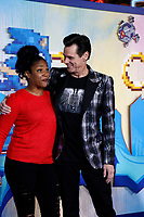 """LOS ANGELES - FEB 12:  Tiffany Haddish, Jim Carrey at the """"Sonic The Hedgehog"""" Special Screening at the Village Theater on February 12, 2020 in Westwood, CA"""