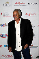 Aug. 29, 2013; Avon, IN, USA: NHRA NHRA former driver Don Prudhomme on the red carpet prior to the premiere of Snake & Mongoo$e at the Regal Shiloh Crossing Stadium 18. Mandatory Credit: Mark J. Rebilas-