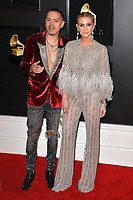 LOS ANGELES, CA - FEBRUARY 10: Evan Ross and Ashlee Simpson at the 61st Annual Grammy Awards at the Staples Center in Los Angeles, California on February 10, 2019. <br /> CAP/MPIFS<br /> &copy;MPIFS/Capital Pictures