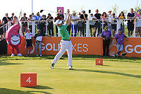 Paul Dunne (IRL) in action on day 2 at the GolfSixes played at The Centurion Club, St Albans, England. <br /> 06/05/2018.<br /> Picture: Golffile | Phil Inglis<br /> <br /> <br /> All photo usage must carry mandatory copyright credit (&copy; Golffile | Phil Inglis)