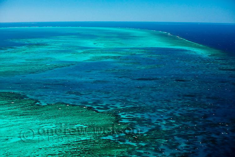 Aerial view of Arlington Reef, near Cairns.  Great Barrier Reef Marine Park, Queensland, Australia