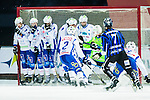 Uppsala 2014-11-15 Bandy Elitserien IK Sirius - IFK V&auml;nersborg :  <br /> Sirius Victor Lundberg med ett skott p&aring; h&ouml;rna mot V&auml;nersborgs m&aring;l under matchen mellan IK Sirius och IFK V&auml;nersborg <br /> (Foto: Kenta J&ouml;nsson) Nyckelord:  Bandy Elitserien Uppsala Studenternas IP IK Sirius IKS IFK V&auml;nersborg