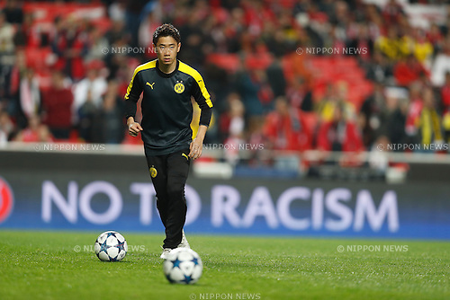 Shinji Kagawa (Dortmund), FEBRUARY 14, 2017 - Football / Soccer : UEFA Champions League Round of 16 1st leg match between SL Benfica 1-0 Borussia Dortmund at the Estadio do SL Benfica in Lisbon, Portugal. (Photo by Mutsu Kawamori/AFLO)