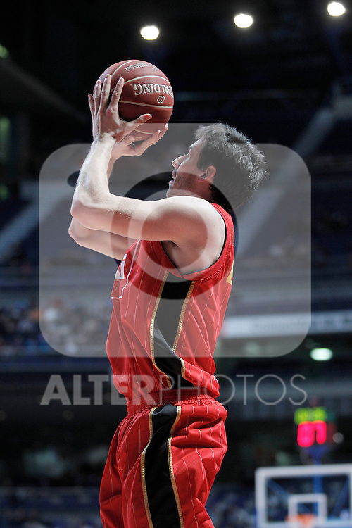 Cai Zaragoza's Sam Van Rossom during Liga Endesa ACB match.November 11,2012. (ALTERPHOTOS/Acero)