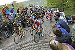 The peloton climb C&ocirc;te de Shibden during Stage 3 of the Tour de Yorkshire 2017 running 194.5km from Bradford/Fox Valley to Sheffield, England. 30th April 2017. <br /> Picture: ASO/P.Ballet | Cyclefile<br /> <br /> <br /> All photos usage must carry mandatory copyright credit (&copy; Cyclefile | ASO/P.Ballet)