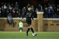 WINSTON-SALEM, NC - DECEMBER 07: Nico Benalcazar #23 of Wake Forest University plays the ball during a game between UC Santa Barbara and Wake Forest at W. Dennie Spry Stadium on December 07, 2019 in Winston-Salem, North Carolina.