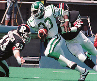 Craig Ellis Saskatchewan Roughriders 1984. Copyright photograph Scott Grant/