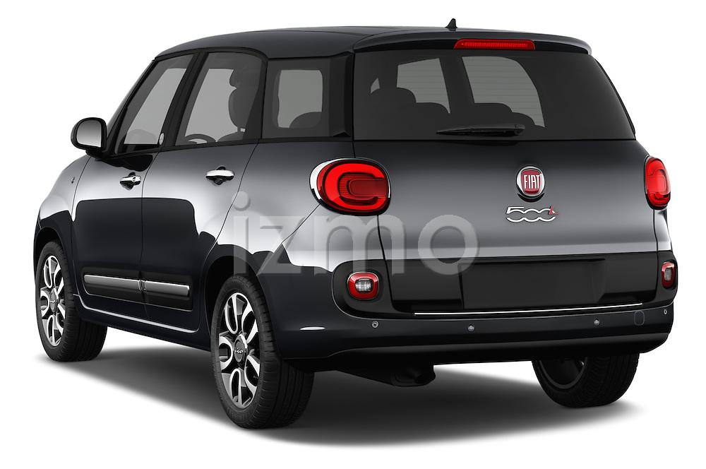 Car pictures of rear three quarter view of 2016 Fiat 500L Living Popstar 5 Door Mini MPV Angular Rear