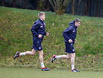 16.3.2018: Rangers training:<br /> Ross McCrorie and Jordan Rossiter putting in the laps