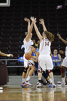 March 14, 2010.  Jayne Appel and Kayla Pedersen during the finals of the Pac-10 tournament.  Stanford defeated UCLA, 70-46.