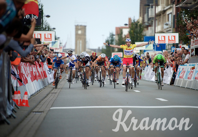winner of the first 2 stages Arnaud D&eacute;mare (FRA/FDJ.fr)<br /> <br /> stage 2<br /> Euro Metropole Tour 2014 (former Franco-Belge)