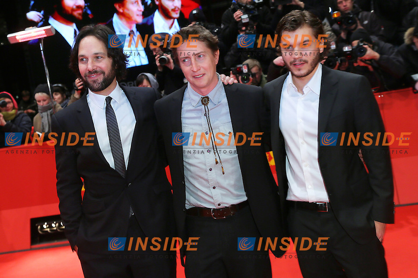 Paul Rudd, David Gordon Green,Emile Hirsch. Berlin 13/02/2013. 63th Berlinale 'Prince Avalanche' premiere. foto Mark Cape/Insidefoto