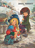 Alfredo, CHILDREN, paintings, BRTOVE0007,#K# Kinder, niños, nostalgisch, nostálgico, illustrations, pinturas