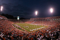 Virginia Cavaliers playing in Scott Stadium at the University of Virginia in Charlottesville, VA. Photo/Andrew Shurtleff.
