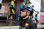Alejandro Valverde of Spain at sign on before the Men Elite Road Race of the UCI World Championships 2019 running 280km from Leeds to Harrogate, England. 29th September 2019.<br /> Picture: Colin Flockton | Cyclefile<br /> <br /> All photos usage must carry mandatory copyright credit (© Cyclefile | Colin Flockton)