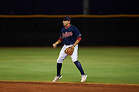AZL Indians Red second baseman Christian Cairo (8) during an Arizona League game against the AZL Padres 1 on June 23, 2019 at the Cleveland Indians Training Complex in Goodyear, Arizona. AZL Indians Red defeated the AZL Padres 1 3-2. (Zachary Lucy/Four Seam Images)