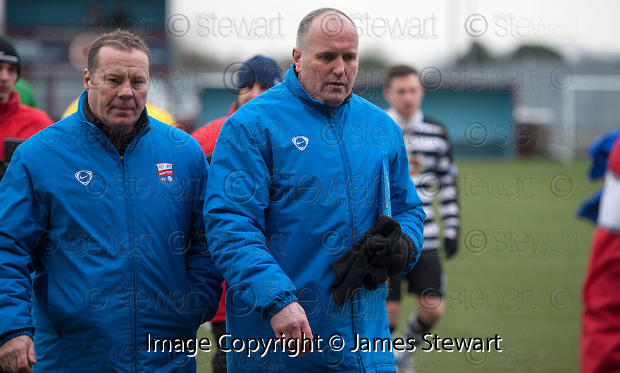 Montrose manager Stuart Garden at the end of the game.