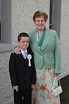 Andrew Ludlow with his grandmother Bridie at Bellewstown NS Communion...(Photo credit should read Jenny Matthews www.newsfile.ie)....This Picture has been sent you under the conditions enclosed by:.Newsfile Ltd..The Studio,.Millmount Abbey,.Drogheda,.Co Meath..Ireland..Tel: +353(0)41-9871240.Fax: +353(0)41-9871260.GSM: +353(0)86-2500958.email: pictures@newsfile.ie.www.newsfile.ie.