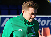 4th November 2017, McDiarmid Park, Perth, Scotland; Scottish Premiership football, St Johnstone versus Celtic;  James Forrest goes through his pre-match warm-uo