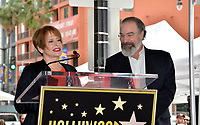 Patti LuPone & Mandy Patinkin at the Hollywood Walk of Fame Star Ceremony honoring actor Mandy Patinkin on Hollywood Boulevard, Los Angeles, USA 12 Feb. 2018<br /> Picture: Paul Smith/Featureflash/SilverHub 0208 004 5359 sales@silverhubmedia.com