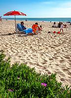 Spanien, Andalusien, Provinz Cádiz, Chipiona: Badeort, Strand an der Costa de la Luz   Spain, Andalusia, Province Cádiz, Chipiona: beach resort at Costa de la Luz