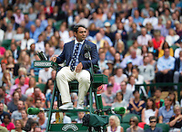 London, England, 4th July, 2016, Tennis, Wimbledon, Chair Umpire at Centercourt<br /> Photo: Henk Koster/tennisimages.com