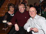 Benner Maguire celebrating his 50th birthday in The Thatch with friends Steven and Mary Dunne. Photo:Colin Bell/pressphotos.ie