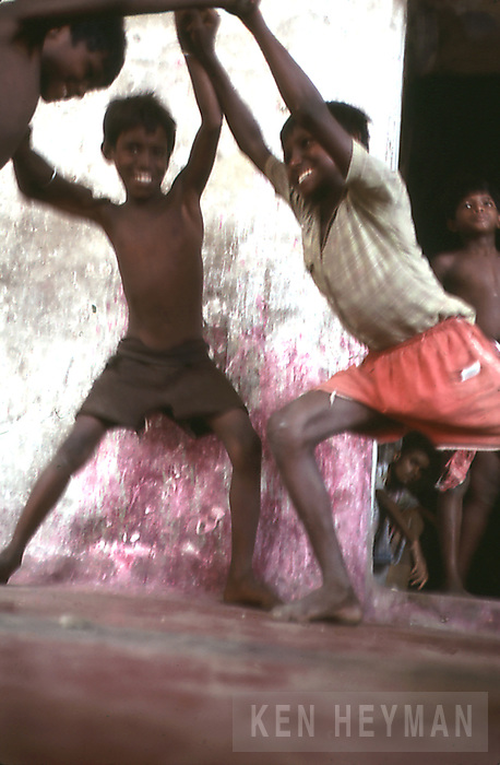 Boys playing, Calcutta, India
