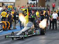 Jul 21, 2017; Morrison, CO, USA; NHRA top fuel driver Brittany Force during qualifying for the Mile High Nationals at Bandimere Speedway. Mandatory Credit: Mark J. Rebilas-USA TODAY Sports