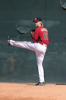 Bronson Arroyo of the Arizona Diamondbacks participates in his first spring training workout after signing a two-year contract wtih the team at Salt River Fields on February 12, 2014 in Scottsdale, Arizona (Bill Mitchell)