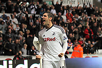 Pictured: Saturday 29 October 2011<br /> Re: Premier League football Swansea City FC v Bolton Wanderers at the Liberty Stadium, south Wales.