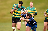 Zion Niha in action during the Otago premier club rugby union match between Kaikorai and Green Island at Bishopscourt Park in Dunedin, New Zealand on Saturday, 4 July 2020. Photo: Joe Allison / lintottphoto.co.nz