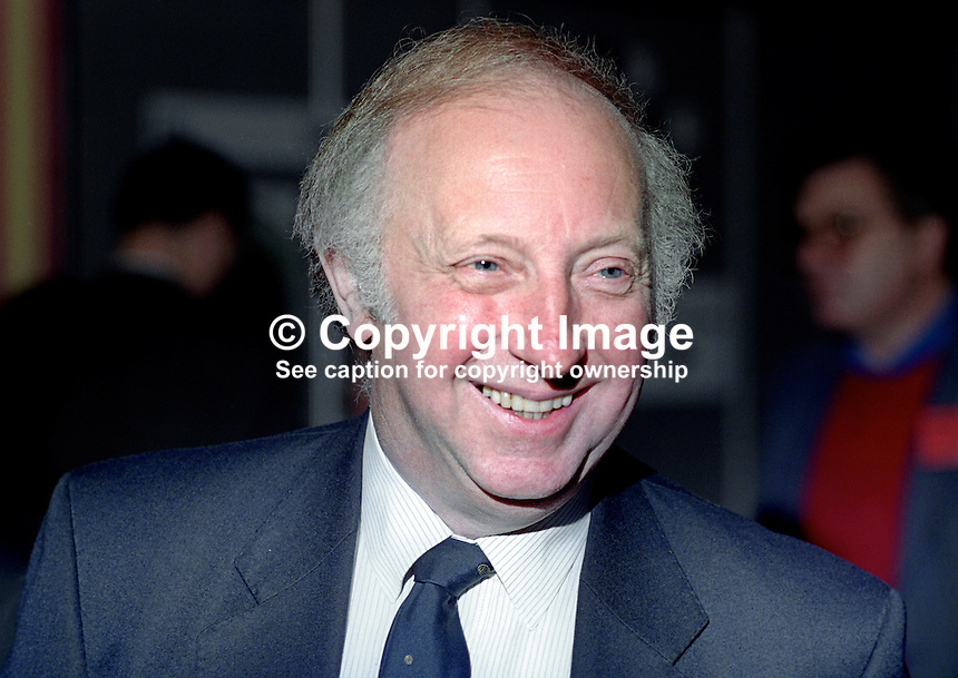 Arthur Scargill, president, National Union of Mineworkers, attendee, annual conference, Labour Party, UK, 19940929AS1<br />