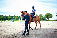Daniel with Rohan Tenakoon: 2017 GER-YARD VISIT: Daniel Meech. Niederkrüchten, Germany. Monday 31 July. Copyright Photo: Libby Law Photography