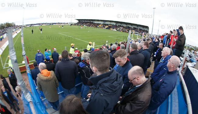 Rangers fans on the scaffolding