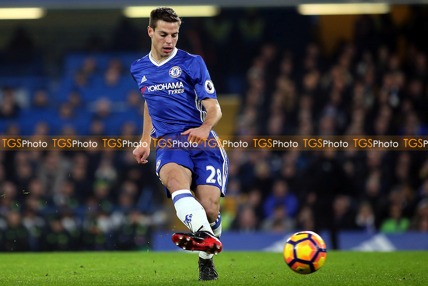 Cesar Azpilicueta of Chelsea in action during Chelsea vs Hull City, Premier League Football at Stamford Bridge on 22nd January 2017