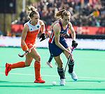 ROTTERDAM -  tijdens de Pro League hockeywedstrijd dames, Nederland-USA .   COPYRIGHT  KOEN SUYK