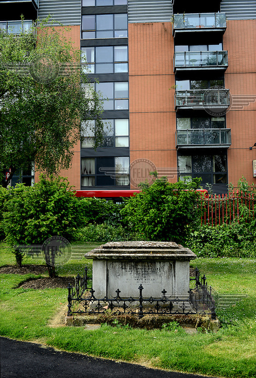 A grave in a cemetery off Bermondsey Street in London.