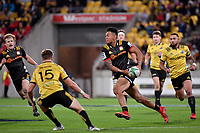 Chiefs' Solomon Alaimalo in action during the Super Rugby - Hurricanes v Chiefs at Westpac Stadium, Wellington, New Zealand on Friday 13 April 2018.<br /> Photo by Masanori Udagawa. <br /> www.photowellington.photoshelter.com