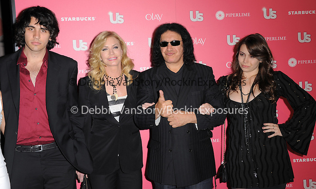 Gene Simmons and family at US Weekly Hot Hollywood Style Issue Party held at Eden in Hollywood, California on April 26,2011                                                                               © 2010 Hollywood Press Agency