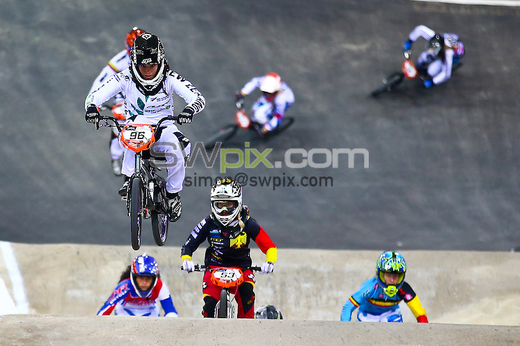 Picture by Alex Whitehead/SWpix.com - Cycling - 2014 UCI BMX Supercross World Cup - National BMX Centre, Manchester, England - 19/04/14 - Sarah Walker