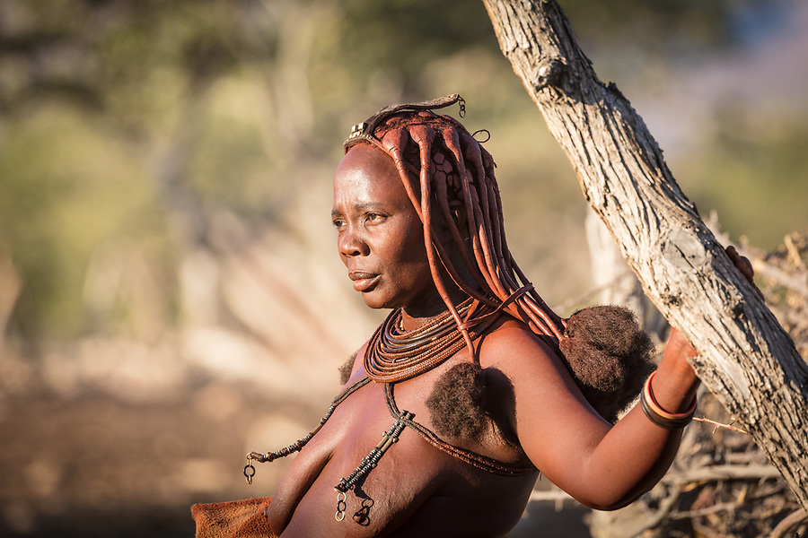 A Himba Woman Near Sesfontein.