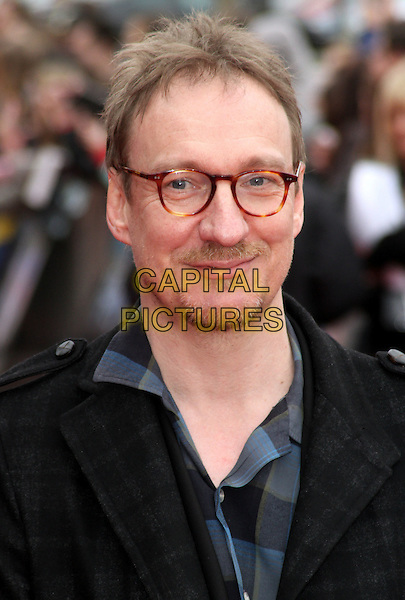 David Thewlis.'Warners Bros Studio Tour - The Making of Harry Potter' Grand Opening at Leavesden Studios, Watford, Hertfordshire, England..March 31st 2012.headshot portrait black grey gray check glasses stubble facial hair.CAP/ROS.©Steve Ross/Capital Pictures
