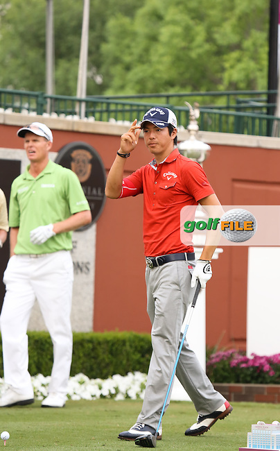 24 MAY 13 Japan's Ryo Ishikawa made the most of Friday's Second Round at The Crowne Plaza Invitational at Colonial Country Club in Irving, Texas. Ishikawa made the halfway cut and will play the weekend. (photo:  kenneth e.dennis / kendennisphoto.com) www.golffile.ie