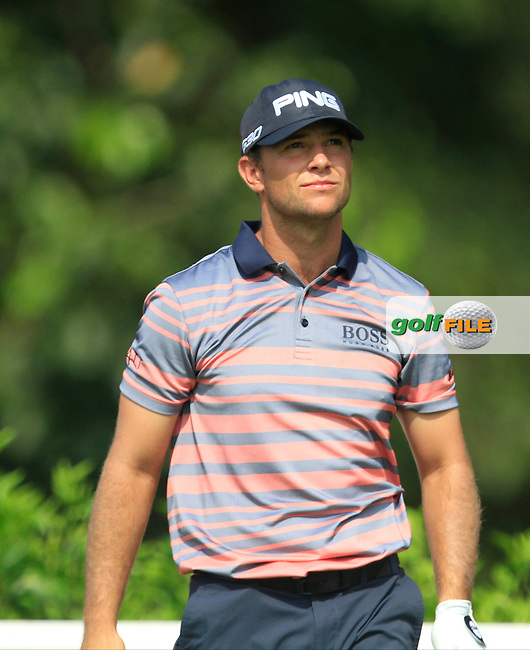 Luke Guthrie (USA) on the 7th tee during Round 4 of the CIMB Classic in the Kuala Lumpur Golf &amp; Country Club on Sunday 2nd November 2014.<br /> Picture:  Thos Caffrey / www.golffile.ie