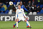Getafe CF's Allan Nyom (b) and FC Krasnodar's Magomed Suleymanov during UEFA Europa League match. December 12,2019. (ALTERPHOTOS/Acero)