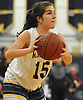 Helena Salmon #15 of Masspequa looks to pass during the third quarter of a Nassau County Conference AA-1 varsity girls basketball game against Oceanside at Massapequa High School on Friday, Jan. 12, 2018. She scored 14 points, including nine in the first quarter. Massapequa won by a score of 65-37.