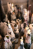 USA, Colorado, Aspen, restaurant deatil of candles burning at the Cloud Nine Restaurant, Aspen Highlands Ski Resort