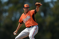 Baltimore Orioles pitcher Kevin Gausman (39) during a minor league spring training game against the Boston Red Sox on March 20, 2015 at the Buck O'Neil Complex in Sarasota, Florida.  (Mike Janes/Four Seam Images)
